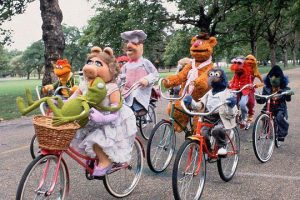 Muppets-Group-Bicycle-Ride